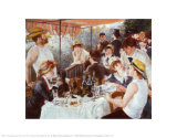 Luncheon of the Boating Party Psters por Pierre-Auguste Renoir
