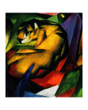 Le tigre Reproduction proc&#233;d&#233; gicl&#233;e par Franz Marc