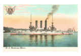 US Battleship Maine Art Print