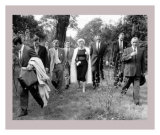 Marilyn Monroe Walking with Men in Park Prints