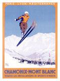 Chamonix, Mont-Blanc Giclee Print by  Alo (Charles-Jean Hallo)