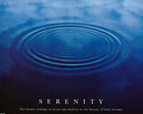 Serenity (Drops in Water) Motivational Art Poster Print Prints