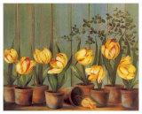 Tulipes Jaunes Posters by Fabrice De Villeneuve