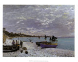 La plage a Sainte-Adresse Posters by Claude Monet