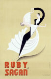 Ruby et Sagan Giclee Print