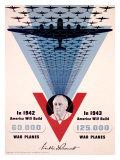 WWII Homefront Victory War Plane Production Poster Lámina giclée por Jean Carlu