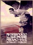 Mostra del Ciclo e dell'Automobile, Mailand1907 Giclée-Druck von Leopoldo Metlicovitz