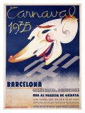 Carnaval Barcelona Giclee Print by Blay Augusto Oliva