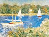 Bassin d'Argenteuil, c.1874 Posters av Claude Monet