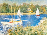 Bassin d&#39;Argenteuil, c.1874 Prints by Claude Monet