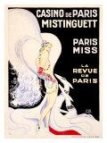 Casino de Paris, Mistinguett Giclee Print by  Zig (Louis Gaudin)
