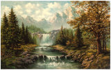 Waterfall II Poster by  Ada & Kris