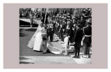 Grace Kelly and Prince Reignier's Wedding in Monaco Poster