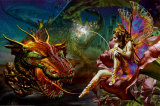 ドラゴンの夢 高品質プリント