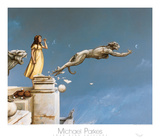 Wasserspeier Kunstdruck von Michael Parkes