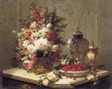 Tulipes et autres fleurs Posters par Jean Baptiste Claude Robie