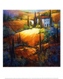 Morning Light Tuscany Poster by Nancy O&#39;toole