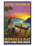 Hawaii, Honolua Bay, Maui Giclée-tryk af Rick Sharp