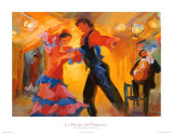 La Pareja del Flamenco Poster by Sharon Carson