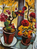 Blumen am Fenster Kunstdrucke von Auguste Macke