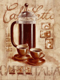 Caff&#233; Latte Print by Sonia Svenson