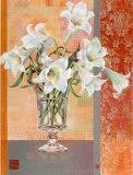 White Lilies Print by Maya Nishiyama