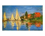 Boating at Argenteuil Giclee-trykk av Claude Monet