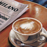Cappuccino al Bar Art by Federico Landi
