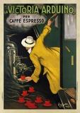 Reclameposter koffie Victoria Arduino, 1922, Italiaanse tekst Schilderijen van Leonetto Cappiello