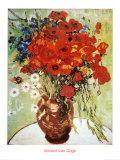 Naturaleza Muerta: Amapolas Rojas y Margaritas Láminas por Vincent van Gogh