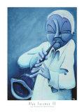 Blue Jazzman IV Poster by Patrick Daughton
