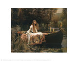 La dama de Shalott Psters por John William Waterhouse