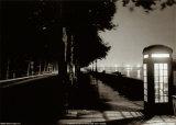 London Embankment At Night Print
