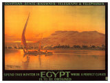Spend This Winter in Egypt Posters af M. Tamplough