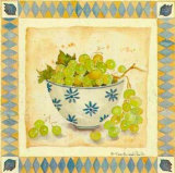 White Grapes Print by Alie Kruse-Kolk