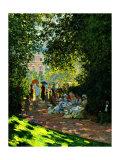 Claude Monet - The Parc Monceau - Giclee Baskı