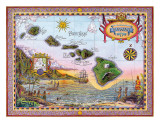 Antique Map of Old Hawaii Giclee Print by Steve Strickland