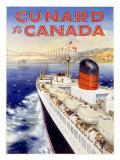 Cunard Line, Canada Giclee Print by Charles Eddowes Turner