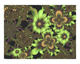 Green Flowers Photographic Print by Vicky Brago-Mitchell