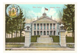 State Capitol Building, Augusta, Maine Art Print