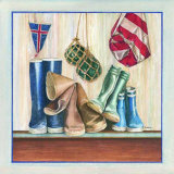 Marine, Bottes I Prints by Laurence David