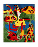 Personnages et Montagnes, c.1936 Posters by Joan Miró