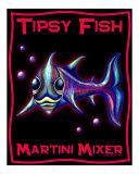 Tipsy Fish - Martini Mixer Giclee Print by Liza Sirena Phoenix
