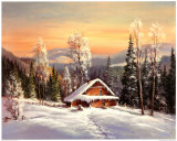 Siberian Winter Prints by Helmut Glassl
