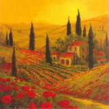 Coquelicots de Toscane&#160;II Affiche par Art Fronckowiak