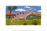 Dippy the Diplodocus Posters por Sophie Harding