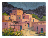 Taos Pueblo Giclee Print by Rick Kersten