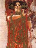 Hygieia (detail from Medicine) Affiches par Gustav Klimt