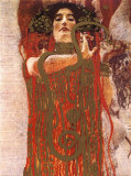 Hygieia (detail from Medicine) Print by Gustav Klimt