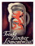 Lowenbrau Giclee Print by Otto Baumberger